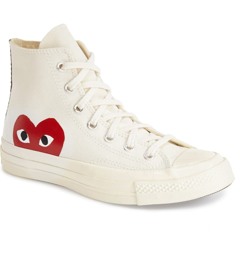 Comme des Garçons PLAY x Converse Chuck Taylor Hidden Heart High Top Sneaker